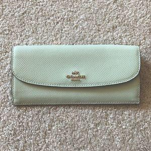 Mint green Coach wallet